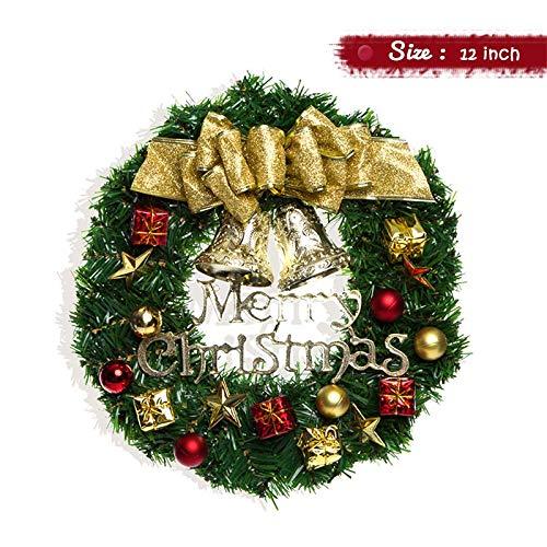 Couronne De No/ël Christmas Cheminee Couronne Porte Party Decorations Deco Noel Deco Sapin De Noel Guirlande De Noel Decoration De Noel Exterieur Diam/ètre 30CM 40CM 50CM-50CM