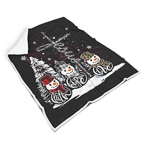 XunYun Manta térmica suave y cálida para habitación con diseño de Navidad Faith Hope Love para niños o adultos, estilo elegante blanco de 127 x 152 cm