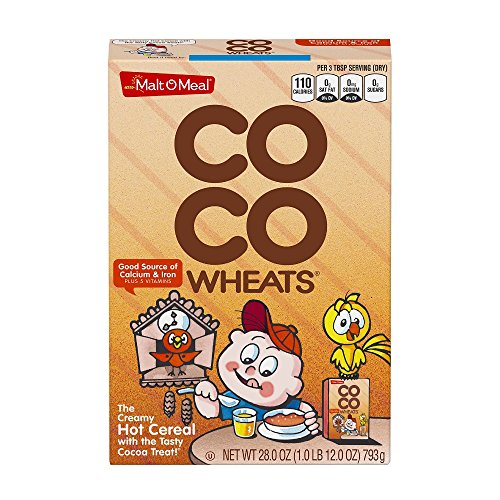 Post MaltOMeal Coco Wheats Chocolate Flavor Quick Cooking Hot Cereal 28 Ounce Pack of 12