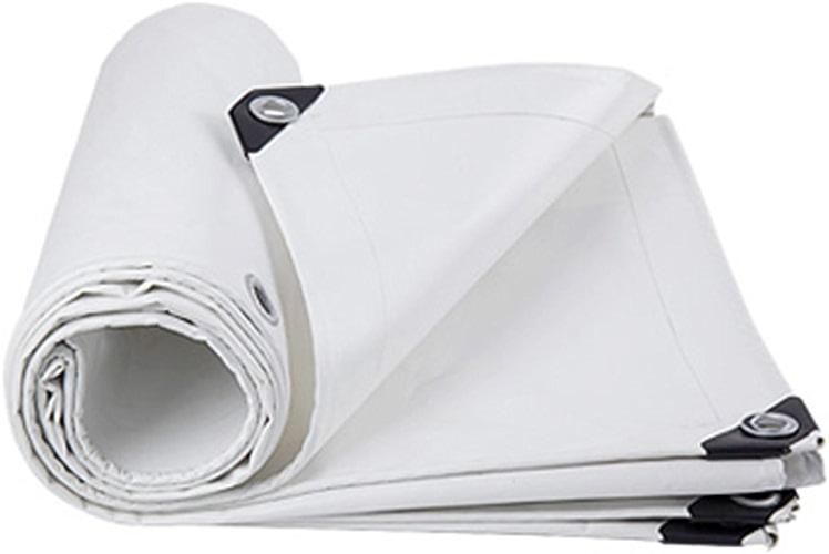 JEAQW Home Bache de Prougeection Contre la Pluie de Prougeection Solaire de bache de Prougeection Contre Le Soleil de Prougeection Contre Le Vent PVC Haute température Blanc Anti-vieillissement