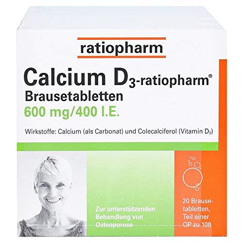 CALCIUM D3-ratiopharm Brausetabletten 100 St Brausetabletten 100 St Brausetabletten
