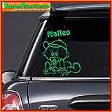 Hochwertiger Namens Aufkleber ' Matteo ' Autoaufkleber Name Aufkleber Wandtattoo Aufkleber für Glas,Lack,Tür und alle glatten Flächen, viele Farben zur Auswahl,Auto Sticker Baby an Bord, Kindername,Namensaufkleber