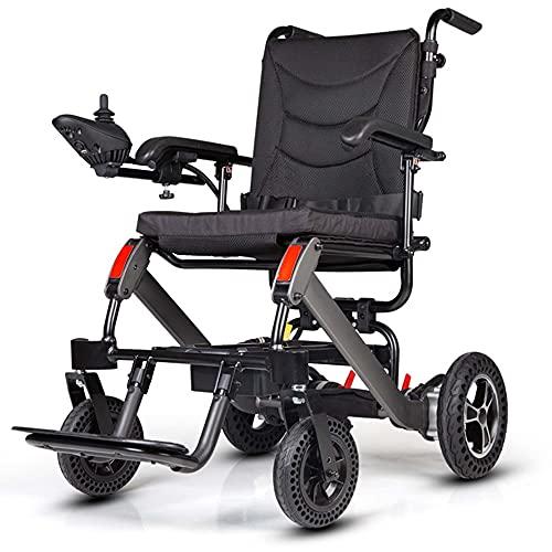 ZXKQ Silla de Ruedas eléctrica portátil, Silla de Ruedas de rehabilitación médica para Pacientes Ancianos con osteoporosis, Adecuada para Viajes al Aire Libre y Caminar/A / 111×60×96cm