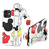 DISNEY COLLECTION Compatible with iPhone 12 Case/Compatible with iPhone 12 Pro Case (2020)-Mickey Fashion Wrist Strap Band Protector Phone Cover Full-Body Bumper Lanyard -6.1 Inch.