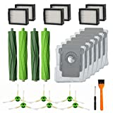RONGJU 20 Pack Replacement Parts for iRobot Roomba i7 i7+ i6+ i8 i3+/Plus E5 E6 E7 Vacuum Cleaner, 2Pack Multi-Surface Rubber Brushes 6 Pack HEPA Filters 6 Pack Side Brushes 6 Pack Vacuum Bags