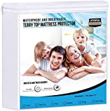Utopia Bedding Waterproof Mattress Protector - Breathable Mattress Cover - Fitted Style All Around Elastic - Fits 17 Inches Deep (Queen)