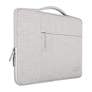 MOSISO Laptop Sleeve Compatible with 13-13.3 inch MacBook Air MacBook Pro Notebook Computer Polyester Multifunctional Briefcase Bag Gray