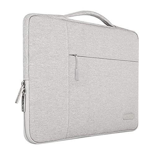MOSISO Laptop Aktentasche Kompatibel mit MacBook Pro 16 Zoll, 15 15,4 15,6 Zoll Dell Lenovo HP Asus Acer Samsung Sony Chromebook,Polyester Multifunktion Sleeve Hülle, Grau