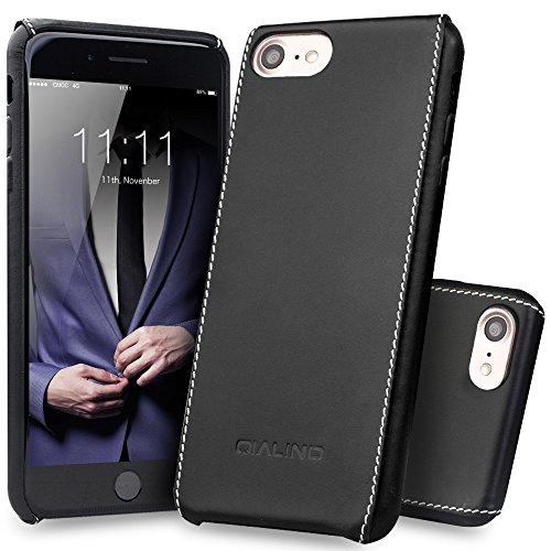 QIALINO - Funda para iPhone 7 Plus (piel auténtica, ultrafina, para iPhone 7 Plus, elegante y duradera)