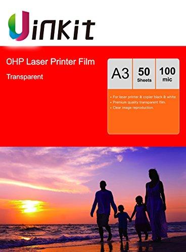 Lámina para retroproyector A4 y A3, para impresora láser y fotocopiadora. Lámina...