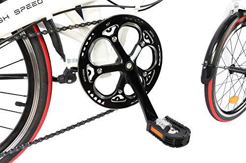 Ecosmo 20AF09W Vélo de ville pliant 20 pouces en alliage léger 12kg