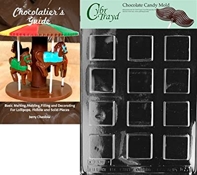 Cybrtrayd Bk-AO065 Plain Square Mints All Occasions Chocolate Candy Mold