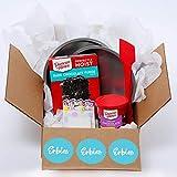 Erbies Birthday Baking Supplies Box Baking Kit, DIY Kit Chocolate Cake Mix for Birthday Cakes,...
