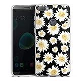 Silikon Hülle kompatibel mit HTC Desire 12 Plus Hülle transparent Handyhülle Sonnenblume Muster Blumen