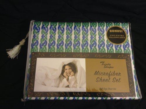Color Trend Collection / Hotel Collection Juego de sábanas de Microfibra (Azul/Verde, Full)