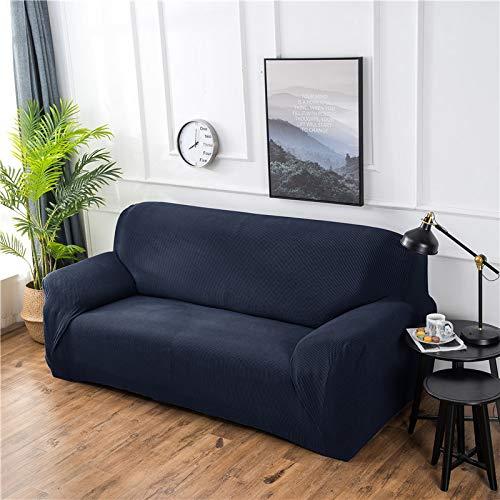 NOBCE Fundas elásticas Funda de sofá elástica seccional elástica para Sala de Estar Funda de sofá en Forma de L Funda de sillón Azul Marino 90-140CM