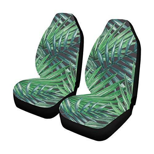 Reopx Sitzbezüge Für Mädchen Tropical Rainforest Bunte Palmen Universal Fit Auto Autositzbezüge Schutz Für Auto LKW Geländewagen Frauen Dame (2 Vorne) Universal Sitzbezüge Für Frauen