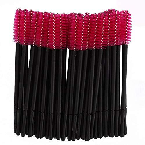 100 pcs Jetable Cils Brosse Mascara Baguettes Applicateur Maquillage Brosse Ensemble Cosmétique Maquillage Brosse Outils Kits(rouge)