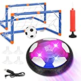 Kids Toys Hover Soccer Ball Set with 2 Goals, Fixget Rechargeable USB Floating Air Soccer with LED Light and Upgraded Bumper, Perfect Time Killer for Boys Girls Indoor Games Birthday Christmas Party