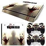 46 North Design PS4 Slim Vinyl Decal Autocollant Skin Sticker TWD Pour Playstation 4 console + 2...