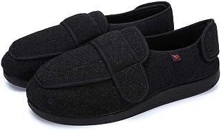 chenhe Zapatillas de Estar por casa para Hombre,Zapatos súper Anchos y cómodos para Edema diabético, Zapatos de casa para ...