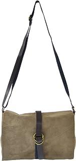 Chicca Tutto Moda CTM Pochette da donna, borsetta a tracolla in vera pelle scamosciata made in Italy 23x16x9 Cm