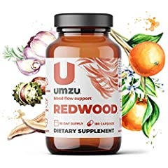NATURAL: Redwood works with your body's natural chemistry to increase nitric oxide production. RESEARCH-BACKED INGREDIENTS: Redwood contains vitamin c, odorless garlic powder, horse chestnut extract, VasoDrive-AP (casein hyrolystate), pine bark extra...
