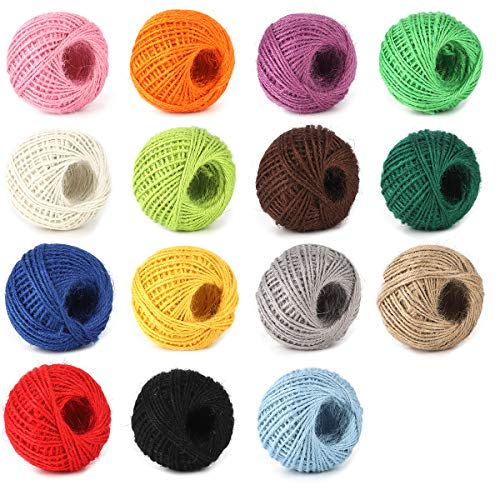Gold, Red, Green, 3 Rolls Pangda 330 Yard Totally Metallic Baker Twine Christmas Gift Wrapping Twine Assorted Twine String for DIY Crafts Presents 3 Colors