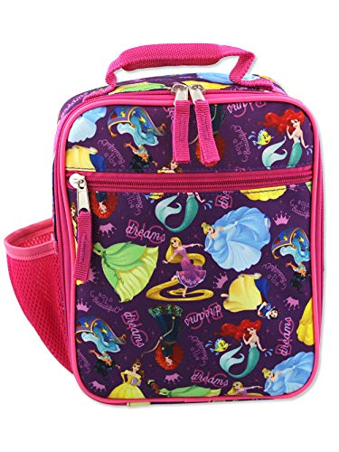 Disney Princess Girl's Soft Insulated School Lunch Box (One Size, Purple/Pink)