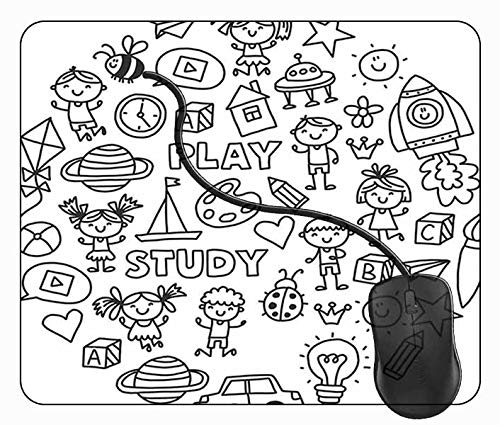 Mauspad Kindergartenhaus, 24x20cm Gaming Mauspad Matte Reibungslos Weich Rutschfester Gummi Basis für PC Laptop