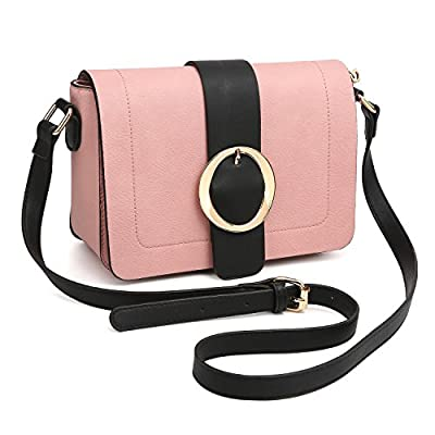Women Vegan Leather Crossbody Shoulder Bags Designer Fashion Purses Structured Messenger Bags