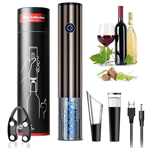 Cavatappi Elettrico Professionale Ricaricabile Controllo di Gravità Touch Screen apribottiglie elettrico con tagliacapsule tappo vino sottovuoto Versatore