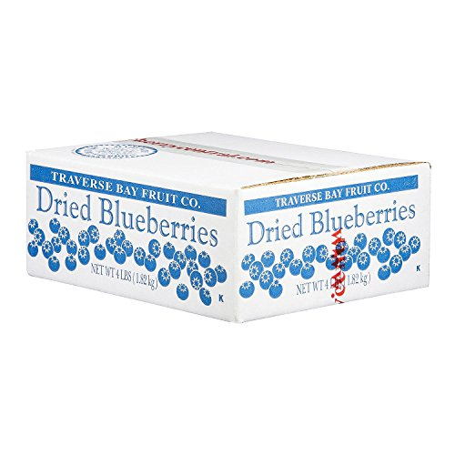 Product of Traverse Bay Dried Blueberries  4 lb Box  Nuts amp Trail Mixes Bulk Savings