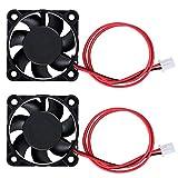 WiMas 2 ventiladores de impresora 3D con rodamientos de bolas duales, 40 mm x 10 mm DC 12 V sin escobillas, ventilador de escape silencioso para impresora 3D, DVR y otros electrodomésticos pequeños