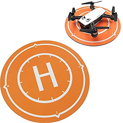 Kismaple SPARK Drone Landing Pad, Mouse Pad, Collapsible Helicopter Helipad Launch Pad Parking Apron for DJI Spark, Mavic Air, Tello, SYMA X5SW, ini Micro FPV Racing RC Drone