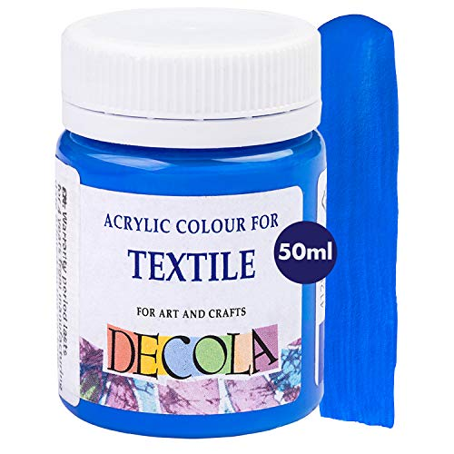 Decola   Colore Blu   Colori per Tessuti   Colori per Tessuti permanenti   Altamente coprenti e Resistenti ai lavaggi   Colori Tessuti permanenti   da Neva Palette