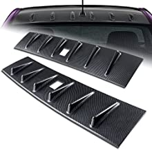 HK5 2008-2016 Mitsubishi Lancer EVO X Carbon Fiber Look Vortex Shark Rear Roof Spoiler Wing