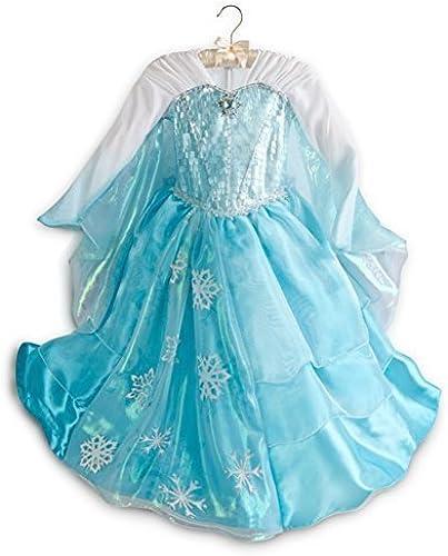Disney Store Frozen Elsa Deluxe Kostüm (Medium 7 8, Blau) (US Version, WICHTIG)