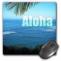 3dRose LLC 8 x 8 x 0.25インチ マウスパッド アロハ ハワイ トロピカル オーシャンビュー (mp_45283_1)