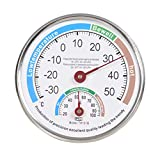 Vosarea - Termometro e igrometro analogico Multiuso, con indicatore di precisione, igrometro, per Interni