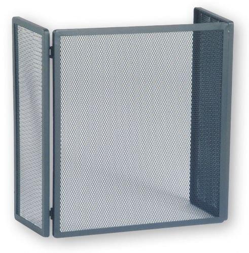 Funkenschutzgitter mit Gittergeflecht, Stahl schwarz, 450 x 220 x 500 mm (B x Flügeltiefe x H)