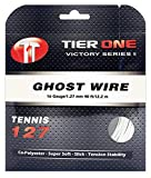Tier One Ghost Wire Soft co-Polyester Tennis String (Set - White, 19 Gauge (1.10 mm) - 12,2 m Set)