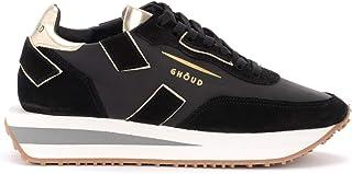 Ghoud Woman's Sneaker Rush X in Pelle E Camoscio Nero Con Dettagli Platino
