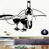 N / A Style de Bande dessinée vin Rouge Autocollant Mural décoration de la Maison Cuisine Chambre Entreprise décoration décoration de fête à la Maison Papier Peint 42x63 cm