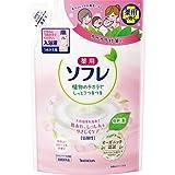 【医薬部外品】薬用ソフレ スキンケア入浴剤 やさしいフローラルの香り つめかえ用 600ml 入浴剤(赤ちゃんと一緒に使えます) 保湿タイプ