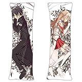 Kirito Kirigaya Kazuto and Asuna Yuuki - Sword Art Online Anime Body Pillow Cover Case 59in x 19.6in Cosplay Gift Japanese Textile & Smooth Knit Hugging Japanese Pillowcases