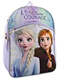 Frozen 2 Elsa Anna Girls Kid 16 inch Flip Sequin School Backpack (One Size, Purple)