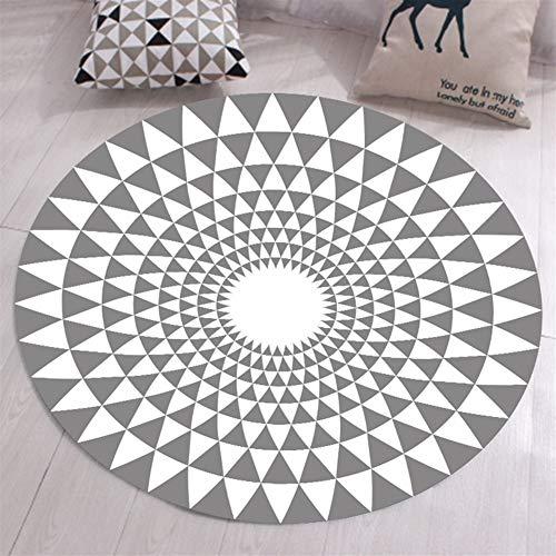 Ommda Alfombras Salon Modernas Redondas Antideslizante Alfombras Vinilicas Geometricas 3D facil Limpieza Lavables Multicolor,SDDT-YXDT01-12,80cm