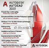 Autodesk AutoCAD 2020 | Digitale Software-Lizenz / 1 Jahre | Windows (nur 64-bit) | Expressversand 24h | inkl. Download-Zugang