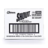 Shout Wipe & Go Stain Remover Wipes, 80 Count